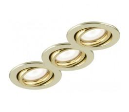 Kit 3 Faretti Metallo Oro...